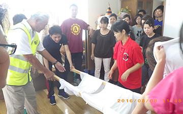 災害時要支援者応急搬送訓練3