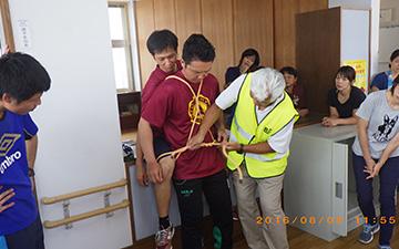 災害時要支援者応急搬送訓練4