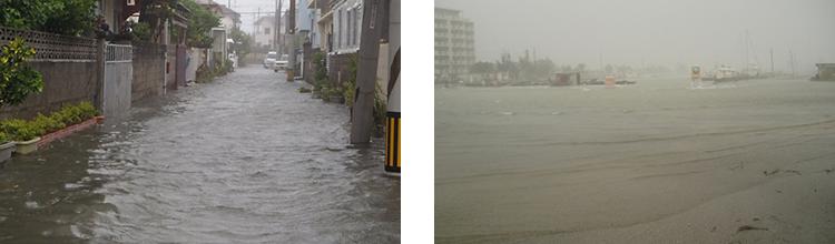 台風9号高潮災害